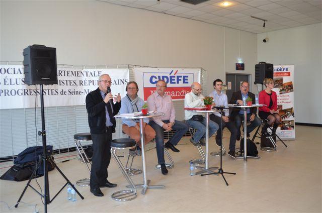 Après Joan Espejel, responsable des formations et nouvelles approches territoriales au Cidefe, Jean Chatelais, conseiller régional au CRBN a développé un contenu très politique de la réforme